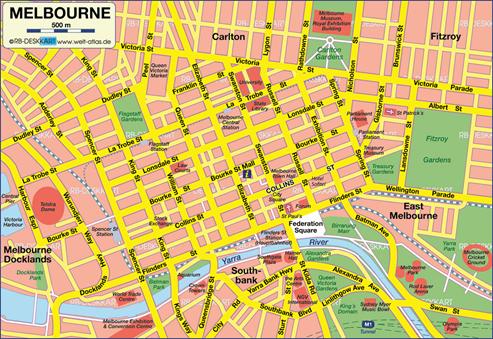 melbourne inner city map